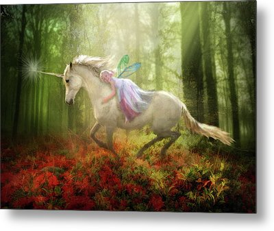 Autumns Flight Metal Print by Trudi Simmonds