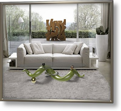 ' Azteca Scape ' And 'a Twisted Table ' Metal Print