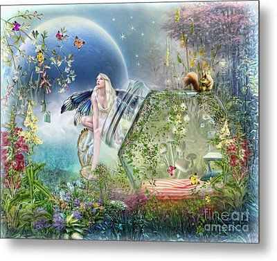 Metal Print featuring the digital art  Butterfly Fairy by Trudi Simmonds