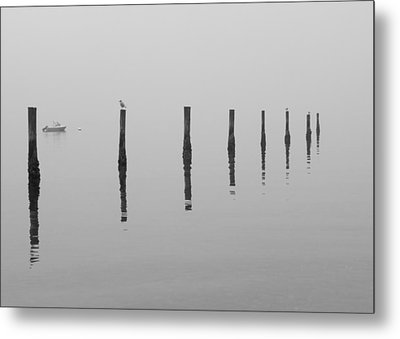 Fog And Reflections Metal Print by Christina Lihani