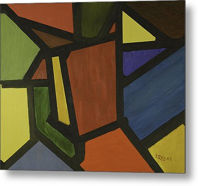 Color Shapes Metal Print by Jose Rojas