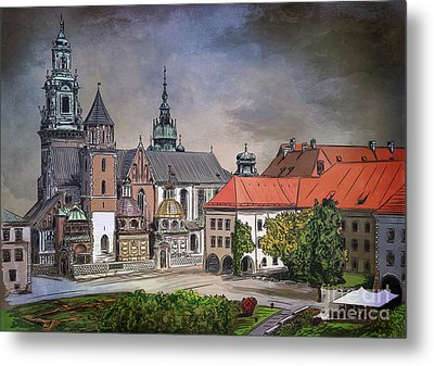 Metal Print featuring the painting  Cracow.world Youth Day In 2016. by Andrzej Szczerski