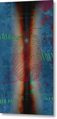 Dig1ts Metal Print by Francois Domain