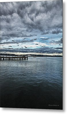 Dock In The Bay Metal Print by DMSprouse Art