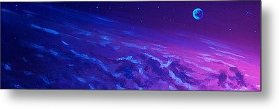 Metal Print featuring the painting  Earth Light Series Lights Off  by Len Sodenkamp