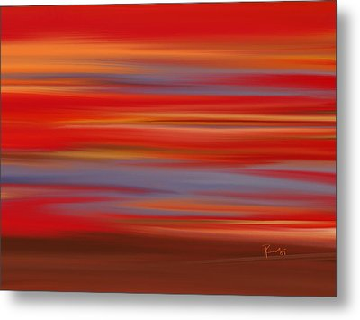 Metal Print featuring the digital art  Evening In Ottawa Valley by Rabi Khan