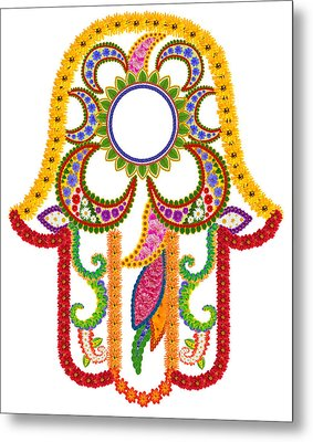 Floral Symbol Of Strength And Happiness Metal Print by Aleksandr Volkov