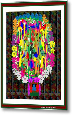 Flower Bouquet  Colorful Abstract Art For Interior Decoration  By Navinjoshi Metal Print