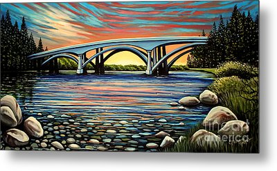 Folsom Bridge Metal Print
