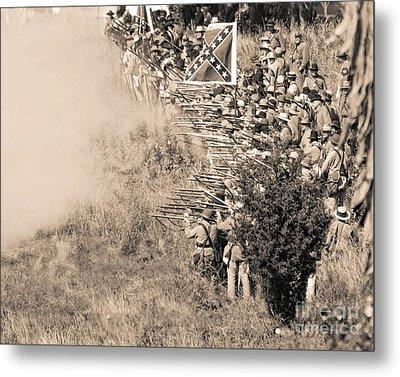 Gettysburg Confederate Infantry 8769s Metal Print