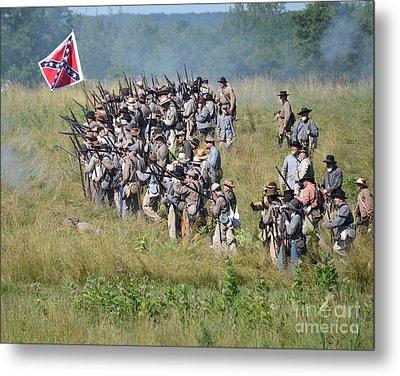 Gettysburg Confederate Infantry 9015c Metal Print