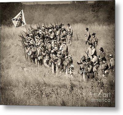 Gettysburg Confederate Infantry 9015s Metal Print