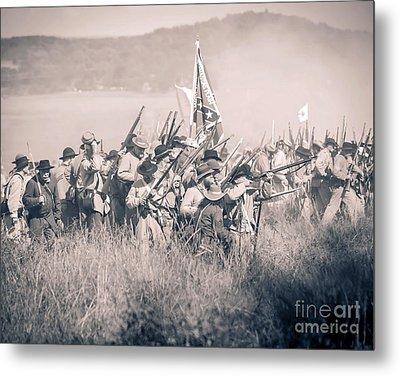 Gettysburg Confederate Infantry 9214s Metal Print