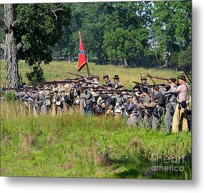 Gettysburg Confederate Infantry 9270c Metal Print
