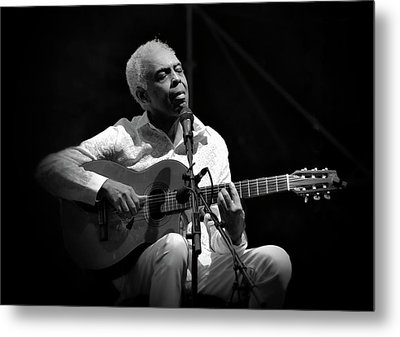 Gilberto Gil   Black And White Metal Print