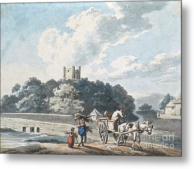 Gleaners With A Horse And Cart Metal Print by MotionAge Designs