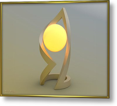 ' Glowing Down In A Ball Of Frame ' Metal Print