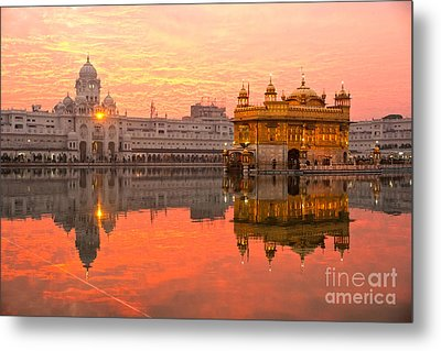 Golden Temple Metal Print by Luciano Mortula