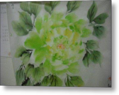 Green Peony004 Metal Print
