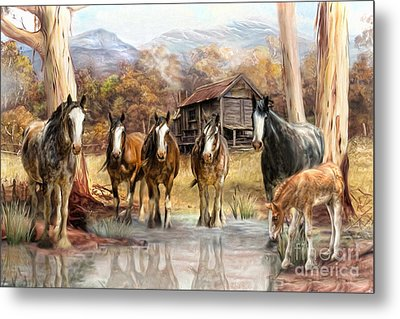 Metal Print featuring the digital art  High Country Hideaway by Trudi Simmonds