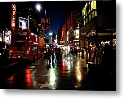 Hollywood Blvd. Metal Print by Amber Abbott
