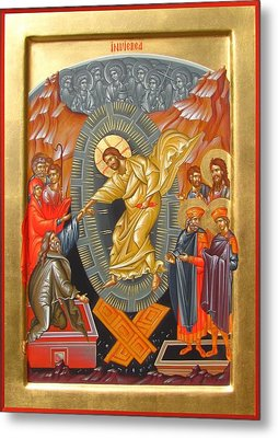 Holy Resurection Of Christ Metal Print by Daniel Neculae