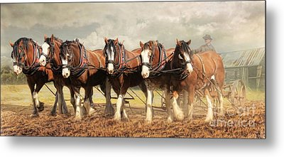 Metal Print featuring the digital art  Horse Power by Trudi Simmonds