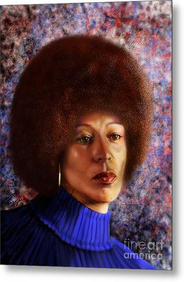 Impassable Me - Angela Davis1 Metal Print by Reggie Duffie