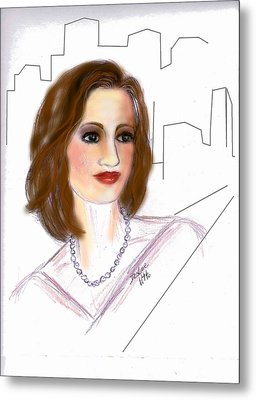 In A New York Minute Metal Print by Desline Vitto