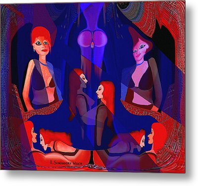 In The Harem - 123 Metal Print by Irmgard Schoendorf Welch