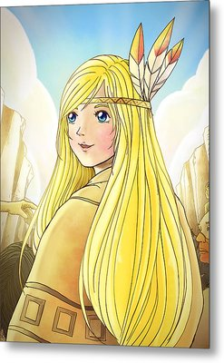 Indian Princess Tammy Metal Print