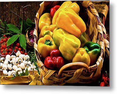 Metal Print featuring the photograph  Italian Peppers  by Harry Spitz