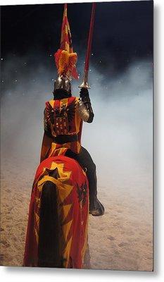 Knight  Metal Print by Art Spectrum