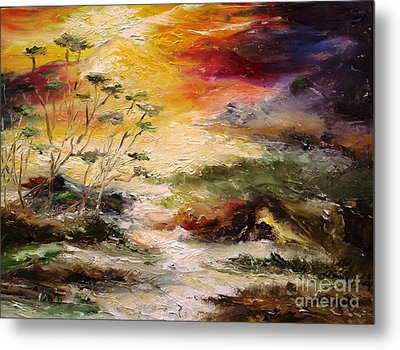 Metal Print featuring the painting  Light Comes by Rushan Ruzaick