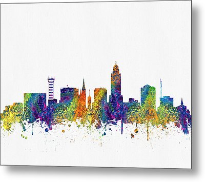 Lincoln Nebraska Skyline Color03 Metal Print