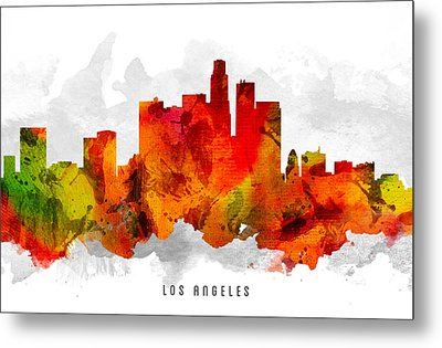 Los Angeles California Cityscape 15 Metal Print by Aged Pixel