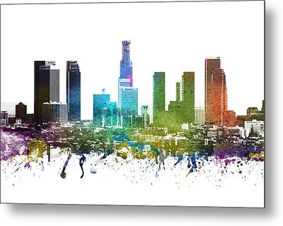 Los Angeles Cityscape 01 Metal Print by Aged Pixel