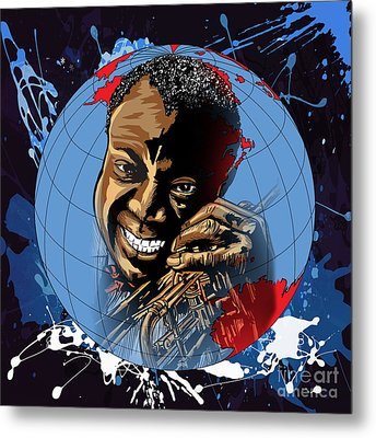 Metal Print featuring the painting  Louis. by Andrzej Szczerski