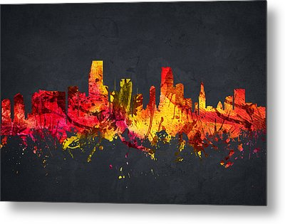 Miami Cityscape 07 Metal Print by Aged Pixel