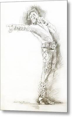 Michael Jackson Live Metal Print by David Lloyd Glover