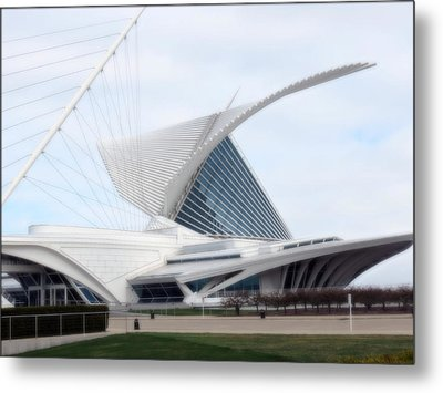 Metal Print featuring the photograph  Milwaukee Art Museum by Kay Novy