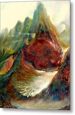 Mountains Fire Metal Print by Henryk Gorecki