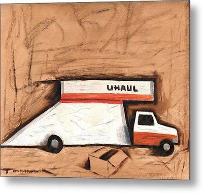 Abstract Moving Truck Art Print Metal Print