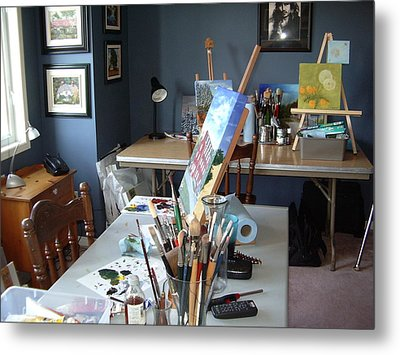 Metal Print featuring the painting  My Station by Diane Daigle