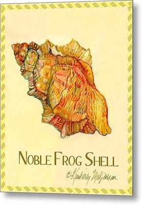 Noble Frog Shell Metal Print