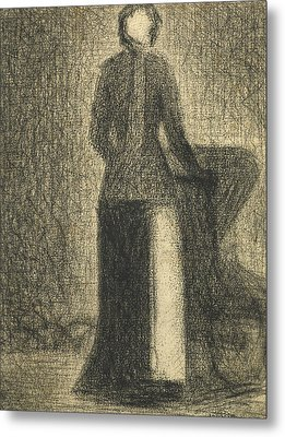 Nurse With A Childs Carriage  Metal Print by Georges-Pierre Seurat