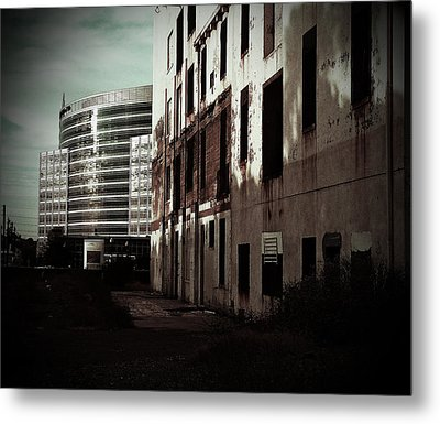 Old Mills And New Offices Metal Print by Kat Loveland