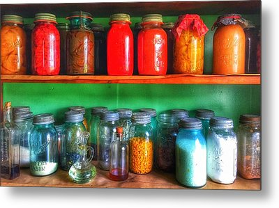 Metal Print featuring the photograph  Pantry  by Jame Hayes