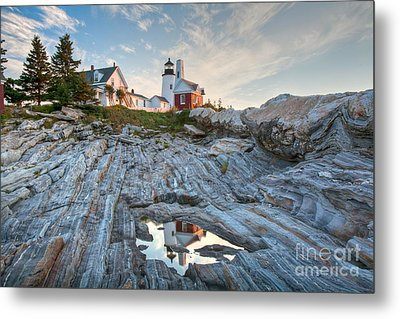 Pemaquid Point Reflection Metal Print by Susan Cole Kelly
