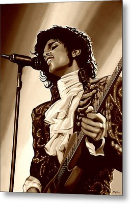 Prince The Artist Metal Print by Paul Meijering